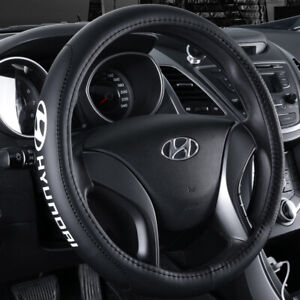 """15"""" Car Steering Wheel Cover Genuine Leather For Hyundai"""