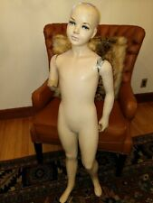 Vintage Antique Child Mannequin Estate Find Hand painted eyes As Is