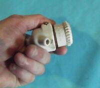 Ancienne douille porcelaine vintage art deco suspension éclairage lustre bougie.