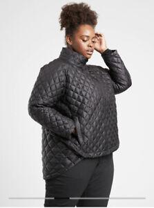 New! ATHLETA Whisper Featherless Jacket Black 1X #599474