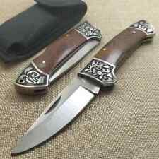 Couteau en bois de santal rouge pliant couteau de poche tactique Camping Nature