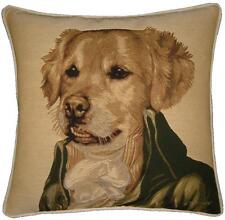 Thierry Poncelet Golden Retriever Woven Tapestry Cushion Cover Pillow Sham
