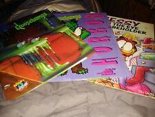 3 Vintage Goosebumps/Garfield 1990s folders Monster Blood The Horror Garfield