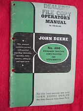 VINTAGE ORIGINAL JOHN DEERE 490 FOUR-ROW TRACTOR CORN PLANTER OPERATORS MANUAL