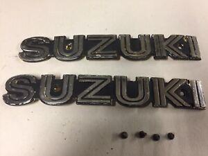 78 1978 Suzuki GS 550 Gas Tank Badges OEM with screws