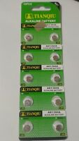 10 Pack AG1 LR60 164 364 LR621 1.5V Alkaline Battery Watch