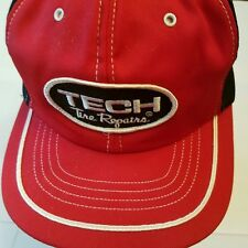 Tech Tire Repair Hat vintage Patch snapback red black Made in Usa white