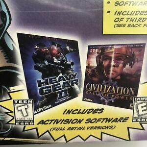 NEW 3Com US Robotics 56K Internet Gaming Modem PCI w/ Heavy Gear II Civilization