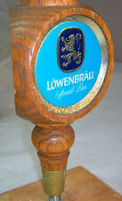 "Vintage Tall Wooden LOWENBRAU Special Beer Tap Handle Marker 11 3/4""     Lot #34"