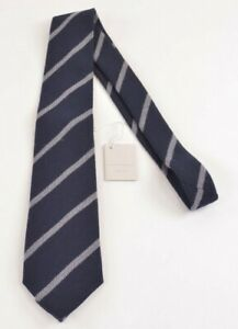 Paolo Albizzati NWT Neck Tie In Blue With Gray Stripes 100% Wool