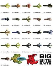 Big Bite Baits Craw Tube (Crwt) Any 22 Colors 4 Inch Soft Plastic Fishing Lures