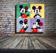 No Framed Canvas Print Home Decor art Wall art picture Disney Mickey Mouse IV