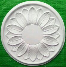 Plaster Ceiling Rose Small Bay Leaves Design 295mm