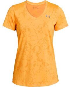 Under Armour HeatGear Women's Jacquard Active T-Shirt, Orange, Size XS, $25, NwT