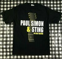 Paul Simon & Sting 2014 On Stage Together Concert Tour Black T Shirt Size M
