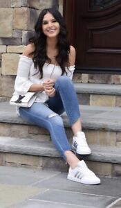 Adidas CF Advantage Women's Tennis Shoes Size 11 white/silver AQ0528