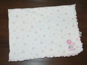 Carters Just One Year Bunches of Love Floral Ruffle Edge Cotton Baby Blanket