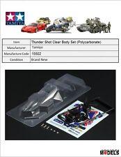 Mini 4wd THUNDER SHOT CLEAR BODY SET (POLYCARBONATE - LEXAN) Tamiya 15502 New