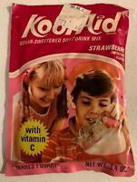 Vintage 1974 Kool Aid Full Unopened Pack Strawberry Sugar Sweetened Large Packet