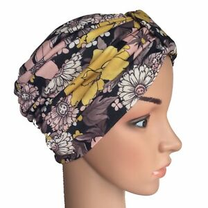 TURBAN IDEAL FOR HAIR LOSS, SOFT STRETCH COTTON FABRIC, CHEMO, CANCER ALOPECIA