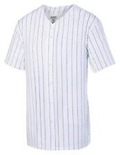 Augusta Sportswear Pinstripe Full Button Baseball Jersey. 1685