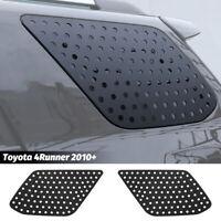 2x Triangular Window Glass Decor Cover Trim for Toyota 4Runner 2010+ Accessories