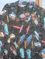 3x Mens Pineapple Lava Hawaiian Aloha Surf Board Woody Rayon Camp Shirt Bright