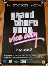 GRAND THEFT AUTO - Vice City Release Poster 2002 PROMO ONLY!!