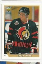 93/94 Upper Deck Autographed Hockey Card Radek Hamr Ottawa Senators BL