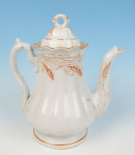 Elsmore & Forster CERES Lustre Wheat Ironstone LARGER COFFEE POT Staffordshire
