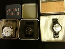3 Fossil and Relic men's watch lot Brand new very nice great deal