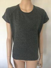 Esmara Quilted Top Short Sleeve Grey Top Size 14 - 16