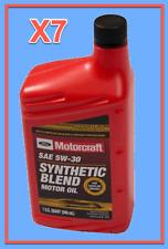 7 X OEM FORD Engine Motor Oil Motorcraft XO5W30QSP SAE 5W-30 Premium Synthetic