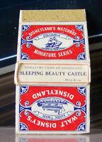 Vintage Matchbook Cover A5 Rare Disneyland Walt Disney Sleeping Beauty Castle