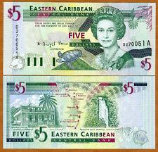 Eastern East Caribbean, $5 (1994) Antigua, P-31a, UNC