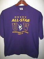University Of Washington Huskies All Star Basketball Pep Band 1997 T Shirt XLrg