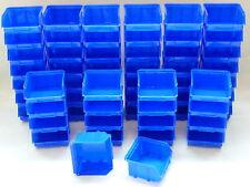192 Stapelboxen / Stapelkästen Gr.1  Sichtlagerkästen  blau  Kunststoff PP NEU