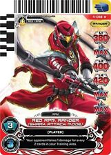 POWER RANGERS CARD LEGENDS UNITE : ULTRA RARE :Red RPM Ranger (Shark) 018