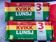 Norwegian Chocolate Kvikk Lunsj Freia 6 Bars Traditional with Waffle Snack