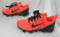 Nike Boys Lace-Up Vapormax Flyknit 3 Shoes BF5 Crimson/Black Size 4Y