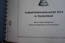 Großes Album Fußball WM 1974, Marken,Bloks,Etb,Autogramme,Sonderstempel