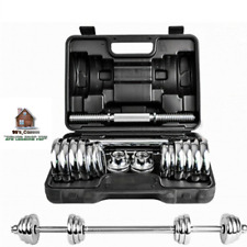 15kg Silver Electroplating Adjustable Weights Man Dumbbell Set With Carry Case