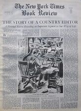 Country Editor - Henry Beetle Caldone Adams 1940 August 11 Ny Times Book Review