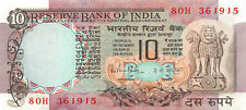 India 10 Rupees, 1985-1990 P-81 Peacock with Pinholes Unc        10/IND99PI,I/B