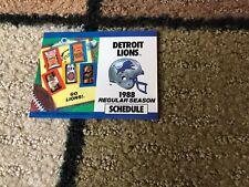 1988 DETROIT LIONS FOOTBALL POCKET SCHEDULE EX