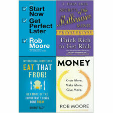 Start Now,Secrets of the Millionaire,Eat That Frog,Money 4 Books Collection Set