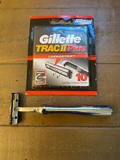 Art of Shave Shaving 3 Blade Razor Gillette Trac II Plus- Set -Great Balance!NEW