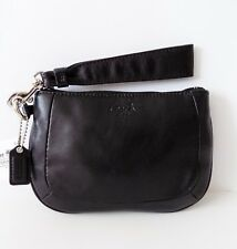 NWT Coach 45084 Kristin Medium Leather Wristlet/Clutch ~ Black