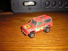 RARE Vintage Majorette Motor Series Range Rover Fire Department Rescue Truck