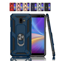 For Samsung Galaxy J6 J4 Plus 2018 Magnetic RIng Holder Hard Armor Phone Case